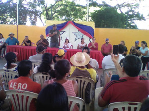 Alcalde Juan Vásquez destacó carácter revolucionario del pueblo de Macanao