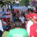 Comunidades de Genovés y Llano Adentro recibieron a candidatos del PSUV Mariño