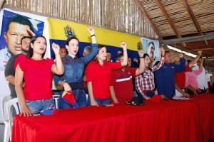 En un ambiente de alegría y compromiso chavista, fueron presentados los 14 candidatos a concejales del GPPSB del municipio Antonio Díaz