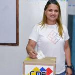 Primera combatiente de Mariño, Mauris González, ejerció su derecho al voto (1)